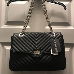Steve Madden smooth quilted with chain strap